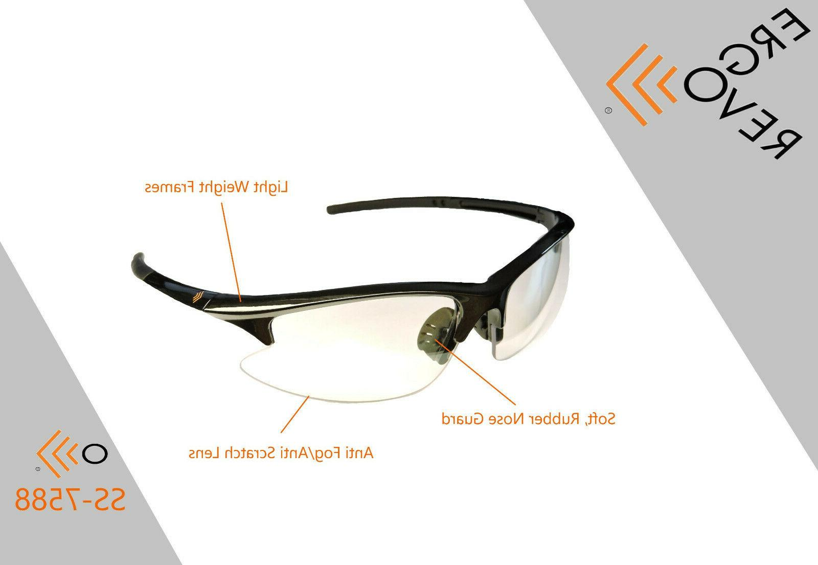 Safety Glasses. Clear, Weight, Unbreakable.