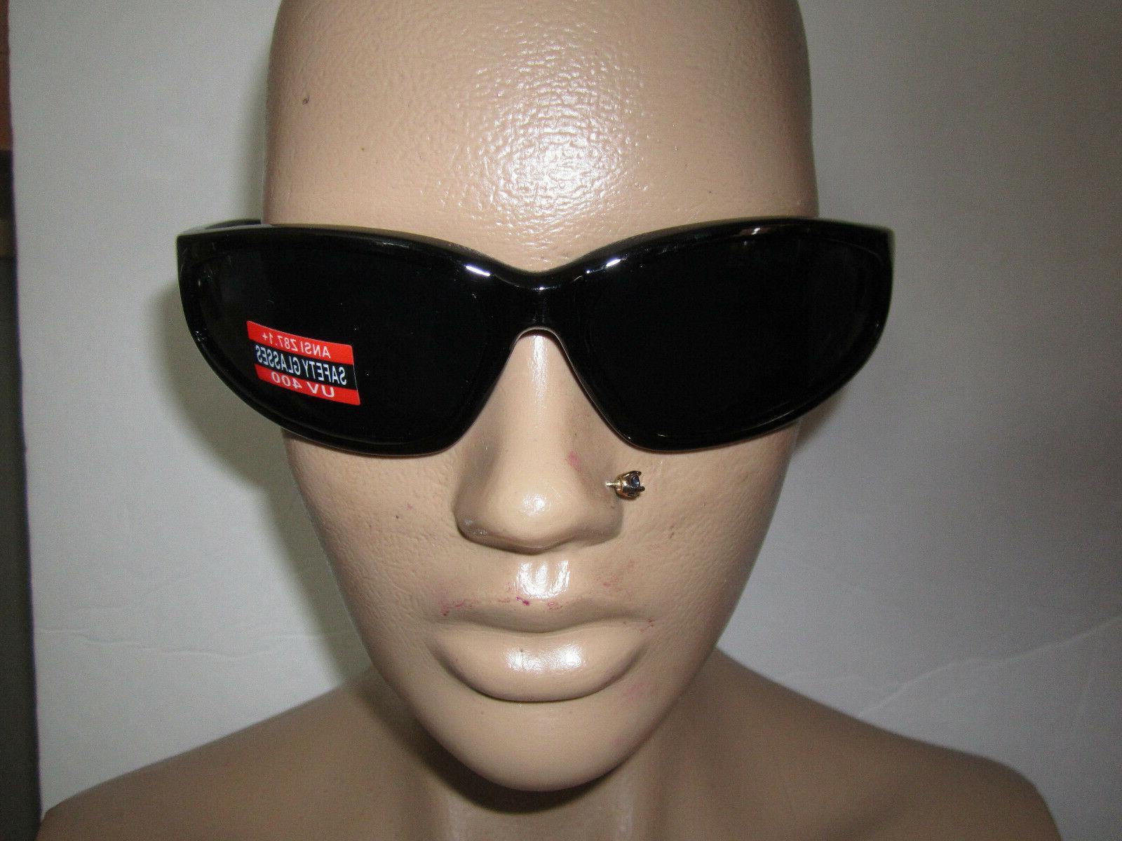 Sunglasses Safety Glasses Super Dark Lens Unbreakable Z87 No