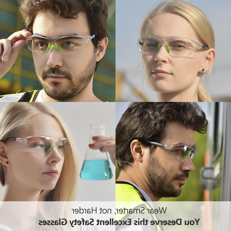 Safeyear Work Goggles UV Lens Strap Light