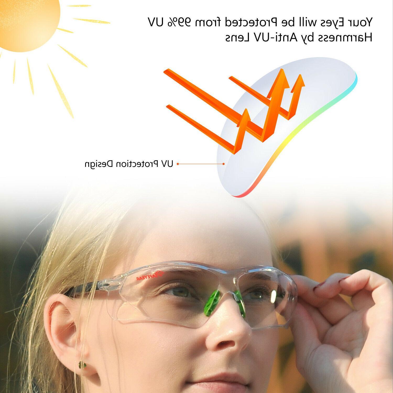 Safeyear Goggles Lab Anti UV Strap LED
