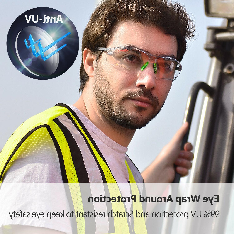 Safeyear Safety Glasses Goggles Lab Anti UV Light