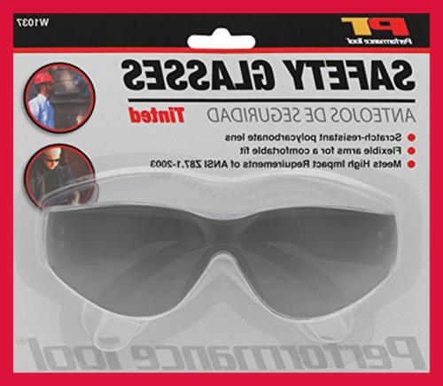 Safety Goggles FREE SHIPPING TINTED SAFETY GLASSES