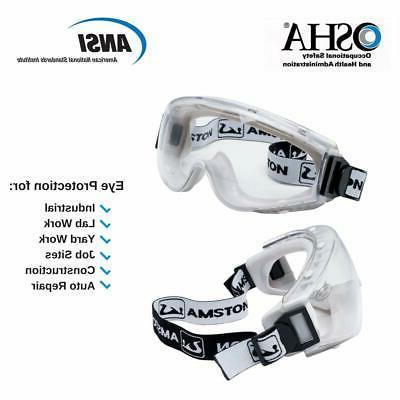AMSTON Glasses Anti-Fog ANSI Z87.1 Bulk