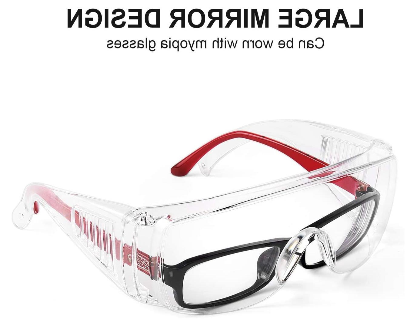 Safety Goggles Over Lab Work Eye Eyewear Clean Lens STOCK