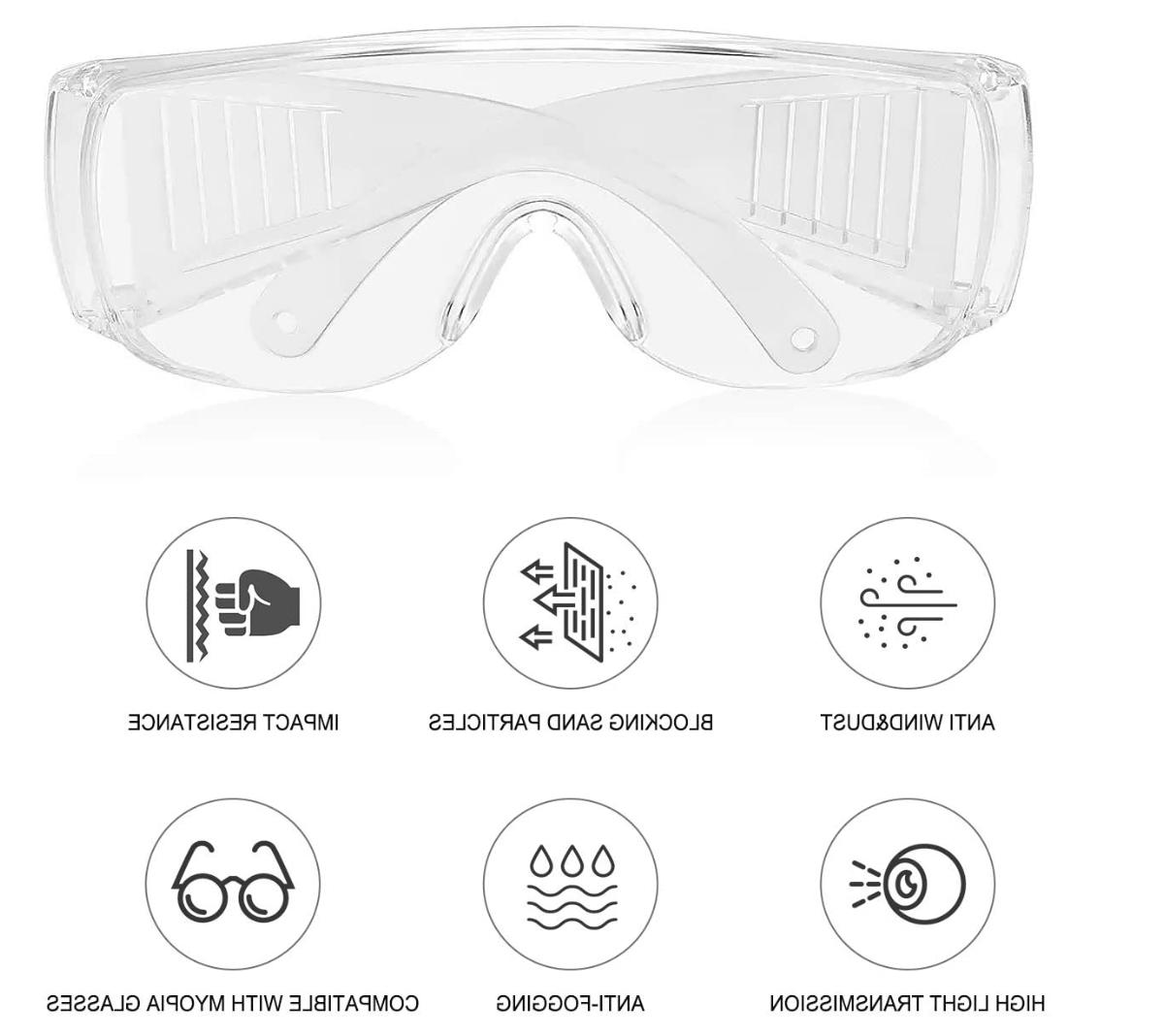 Safety Over Glasses Lab Work Eyewear Clean STOCK