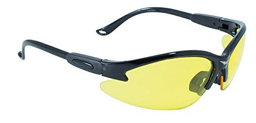 Safety Shop Glasses with Black Frame and Yellow Lenses