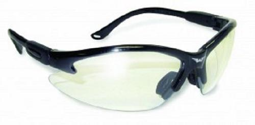 Safety Shop Glasses with Black Frame and Clear Lenses