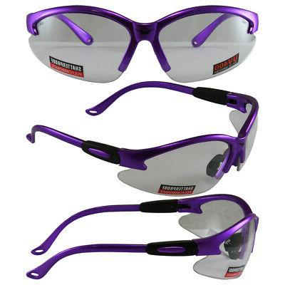 safety shop glasses with purple frame
