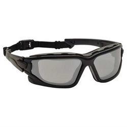 Pyramex Silver Mirror Safety Glasses, Anti-Fog, Scratch-Resi
