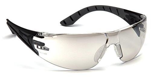 Pyramex Safety SBG9680S Endeavor Plus Durable Grey Lens, Black & Grey Indoor/Outdoor Mirror