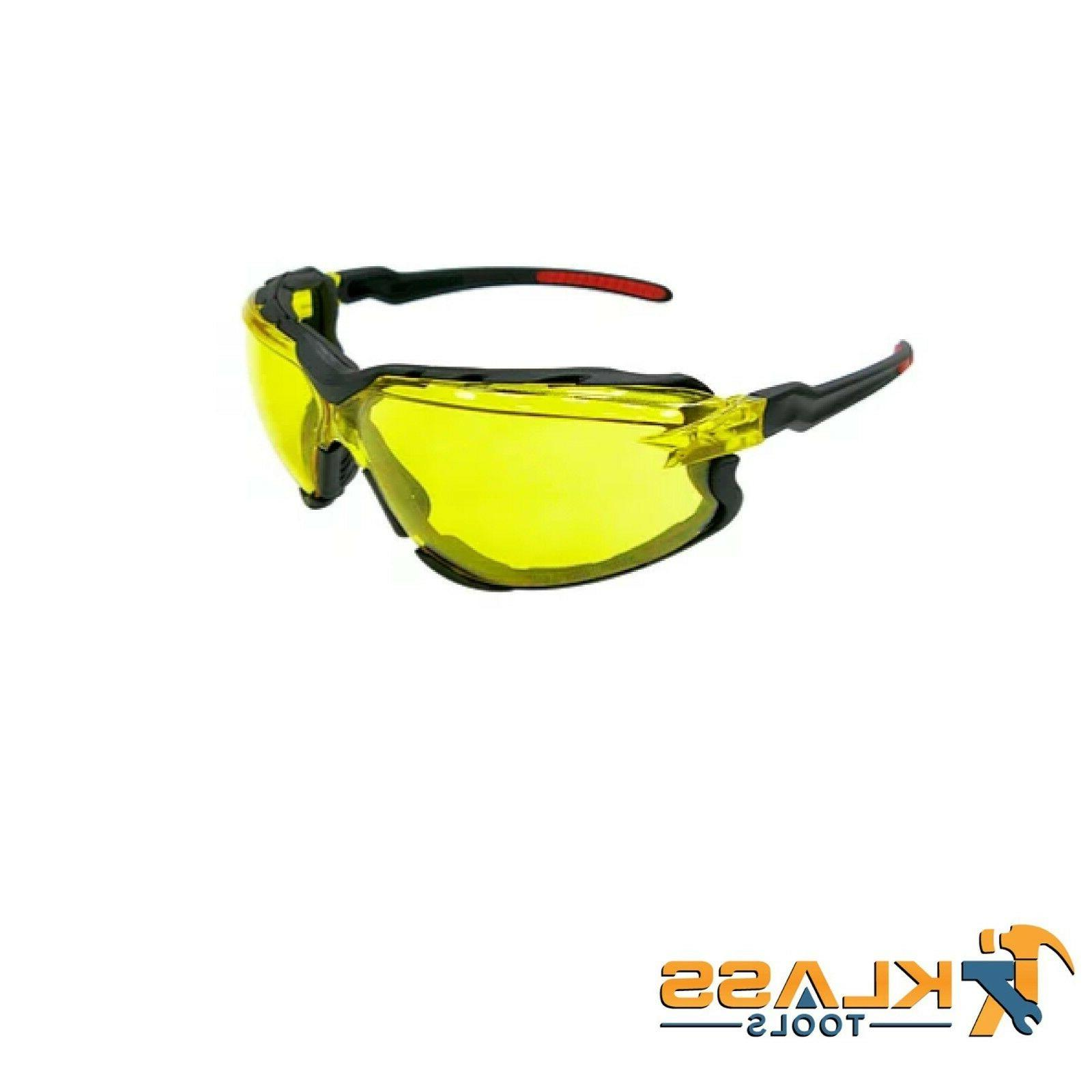 series 8500 safety glasses with amber lens