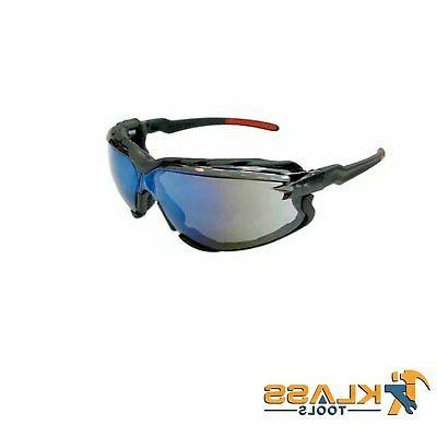 series 8500 safety glasses with blue mirror