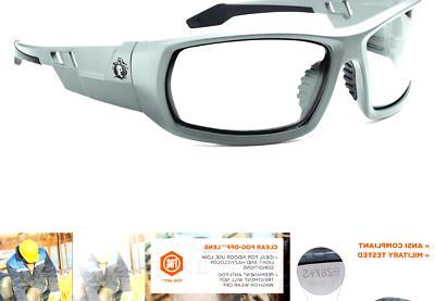 Ergodyne Skullerz Anti-Fog Safety Glasses Gray