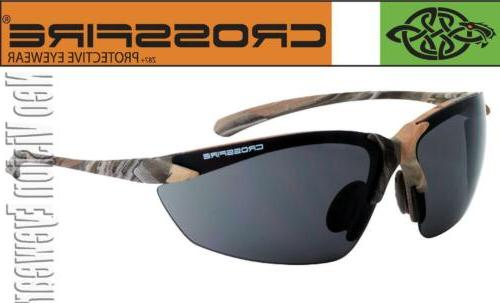 Crossfire Sniper Woodland Camo Smoke Safety Glasses Sunglass