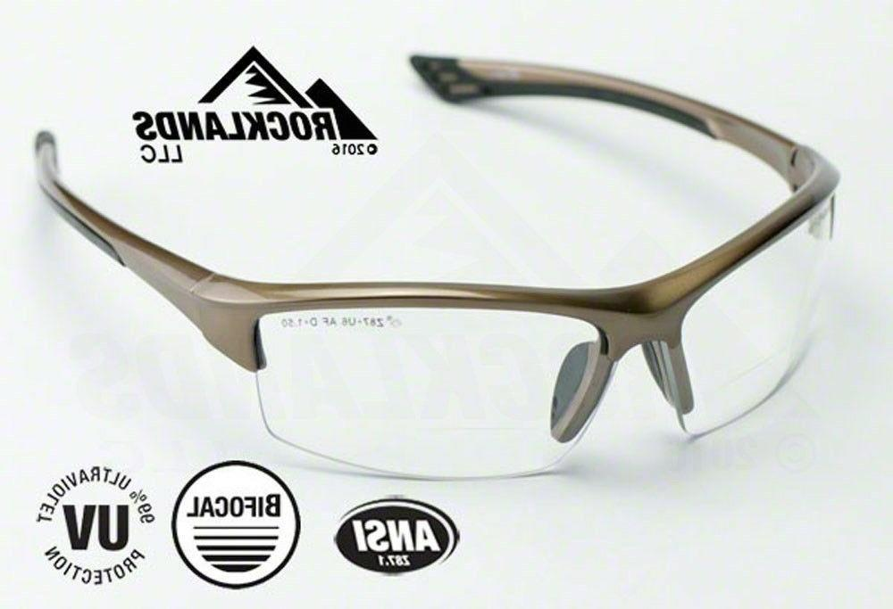 sonoma rx350 bifocal safety reading glasses clear