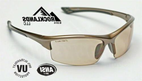 Elvex Sonoma™ Safety/Sun/Motorcycle Glasses Light Brown Le