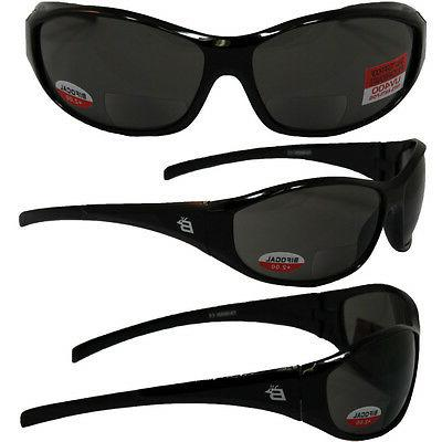 sparrow bifocal safety glasses by black frames