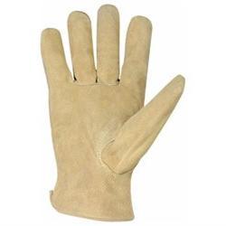 Split Cowhide Driver Men's Work Gloves - Size: Medium