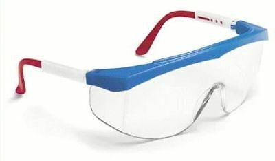 Stratos Spectacles - stratos red/wht/blue frame clear lens,