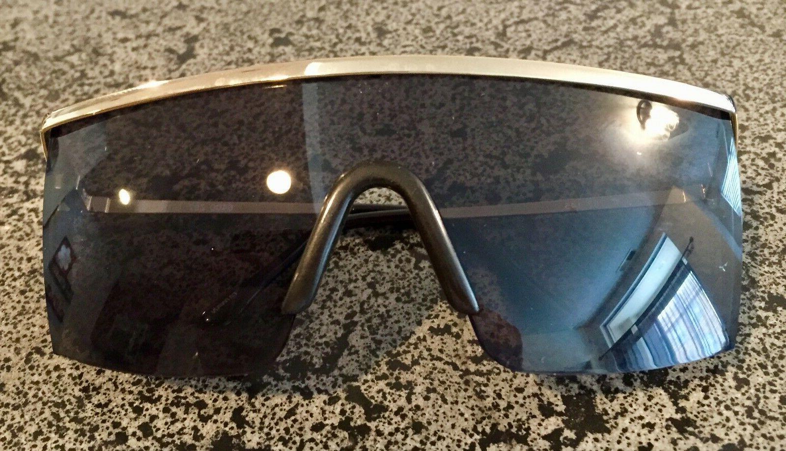 Stylish Retro Wrap Around Safety Glasses Gold Frame Grey Lens