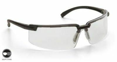 Pyramex Surveyor Safety Glasses with Black Frame and Clear A