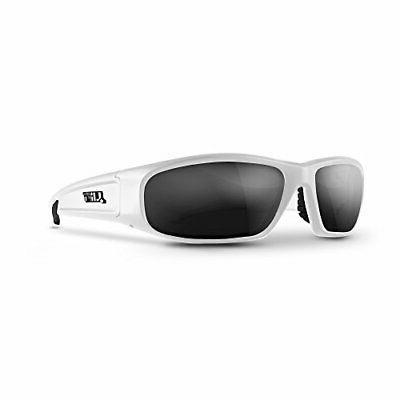 switch safety glasses white frame smoke lens
