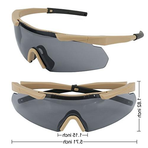 XAegis Eyewear Interchangeable Safety Glasses Shell Case Shooting Glasses Hiking,Fishing, Frame