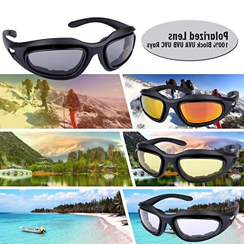 ActionEliters Polarized Shooting Safety Kit 3 Lenses for Driving Fishing Running More