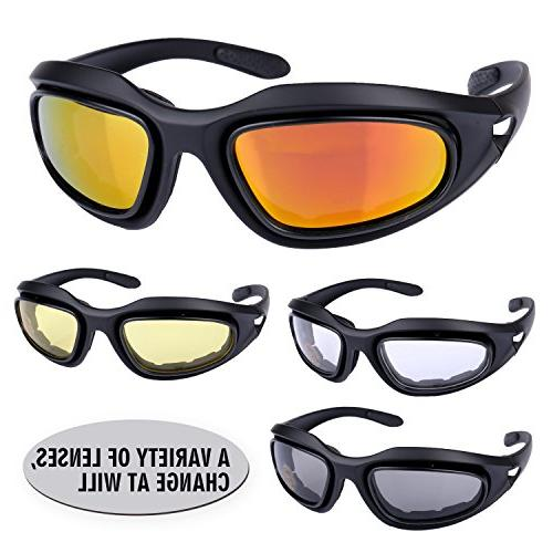 ActionEliters Eyeshield Polarized Shooting Safety 3 for Driving Fishing More