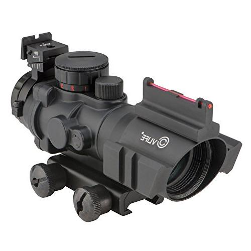 tactical rifle scope red green
