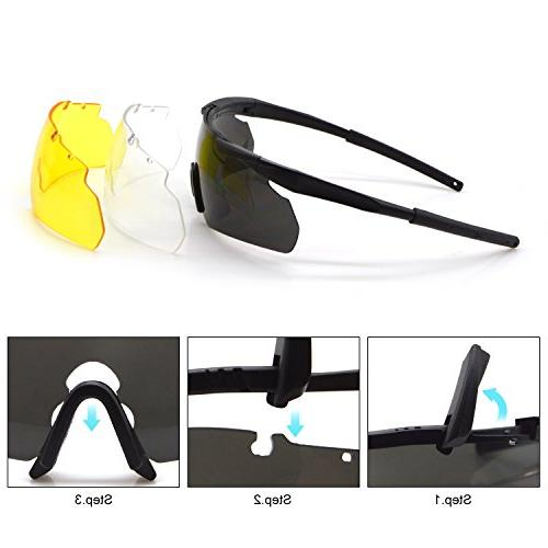 ActionEliters Eyewear Eyeshield Polarized Safety 3 Driving Fishing and
