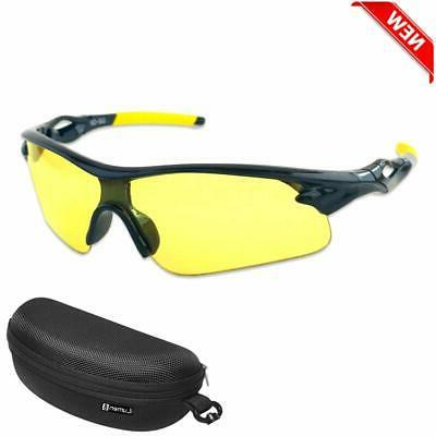 No Tax Protective Safety Shooting Glasses Yellow Lens Outdoo