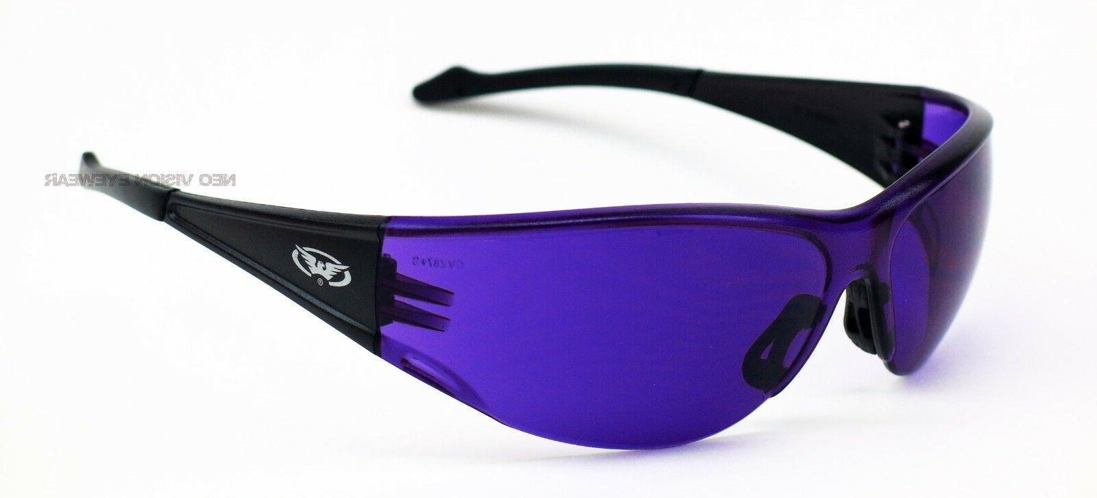 Global Full Purple Lens Sunglasses Z87+