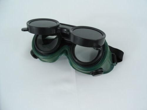 TWO Pair New Welding Cutting Welders Goggles Glasses Flip Up