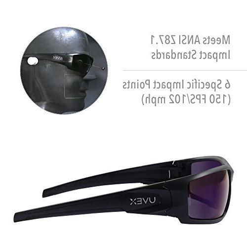 Howard Honeywell Uvex Hypershock Glasses with Coating, Mirror Lens