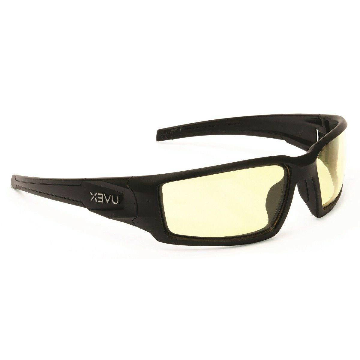 uvex hypershock safety glasses with amber anti