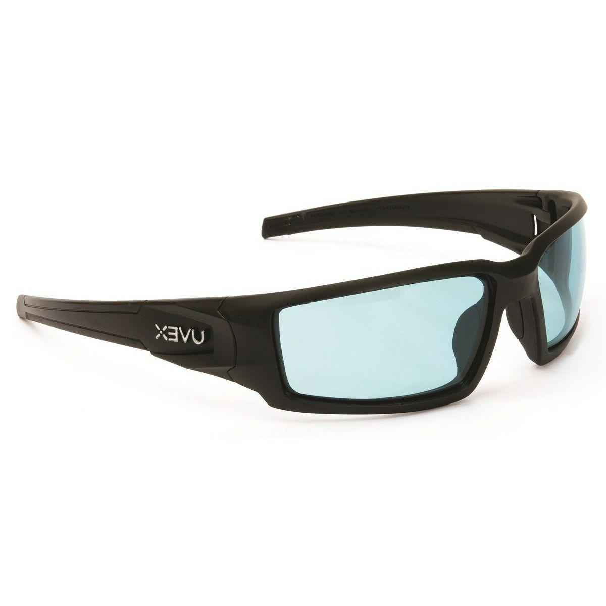 uvex hypershock safety glasses with blue anti