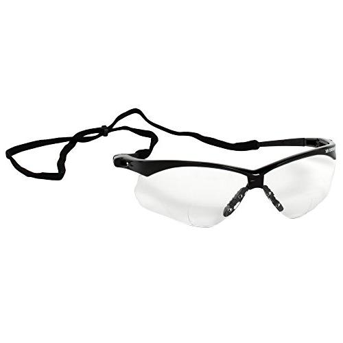 Jackson Safety V60 Vision , Clear Readers +2.0 Diopters, Black Frame, 6 Pairs/Case
