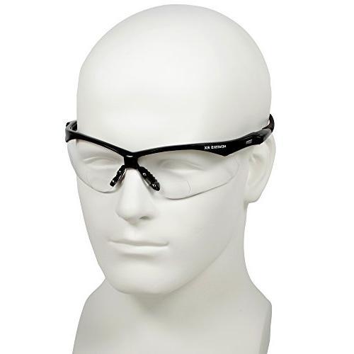 Jackson V60 Vision Correction Glasses , +2.0 Diopters, Black Frame, 6