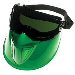 Jackson Safety* V90 Series Face Shield, Black Frame, Dark Gr