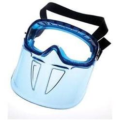 Jackson Safety* V90 Series Face Shield, Blue Frame, Clear Le