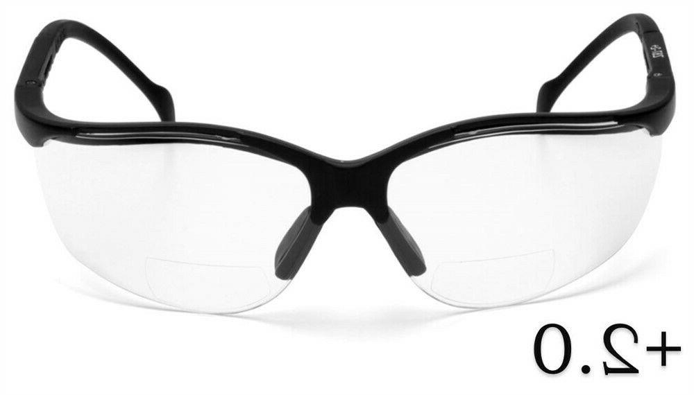 venture ii safety glasses with bifocal style