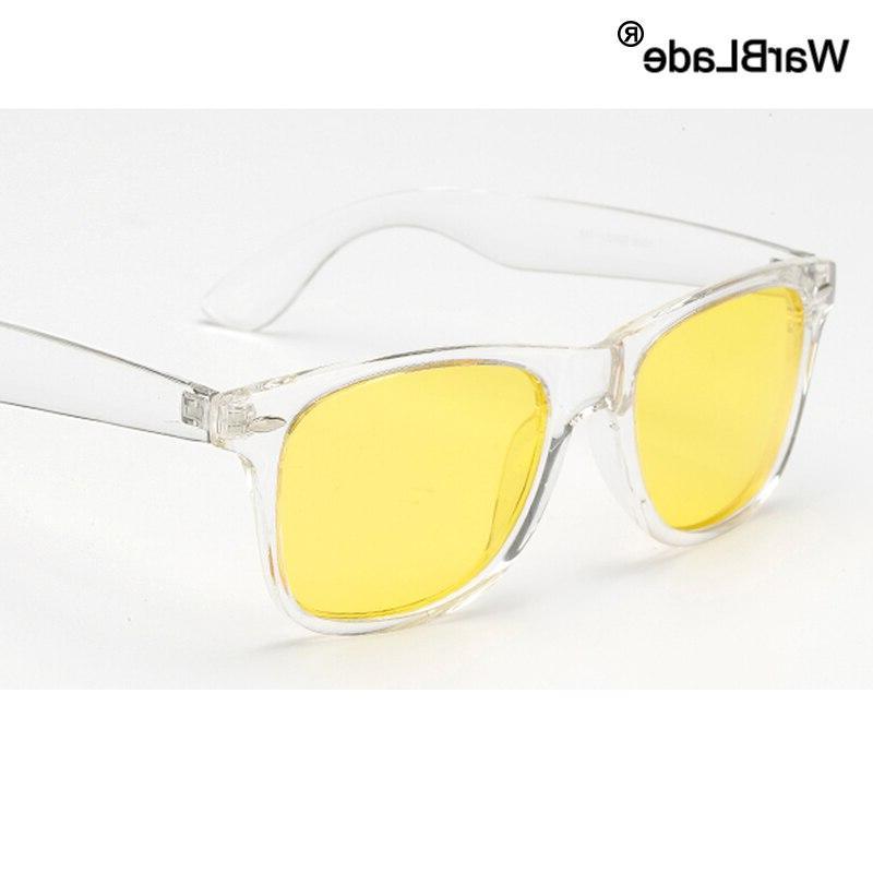 vintage polarized sunglasses men women yellow lens
