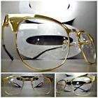 Men or Women VINTAGE RETRO Style Clear Lens EYE GLASSES Gold