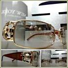 Men's VINTAGE RETRO Style Clear Lens Mirror Tint SUN GLASSES