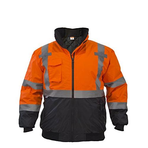 visibility waterproof bomber jacket