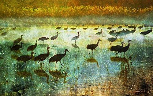 wall print entitled dawn flight
