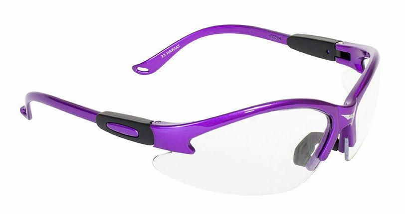 womens z87 purple safety glasses clear lenses