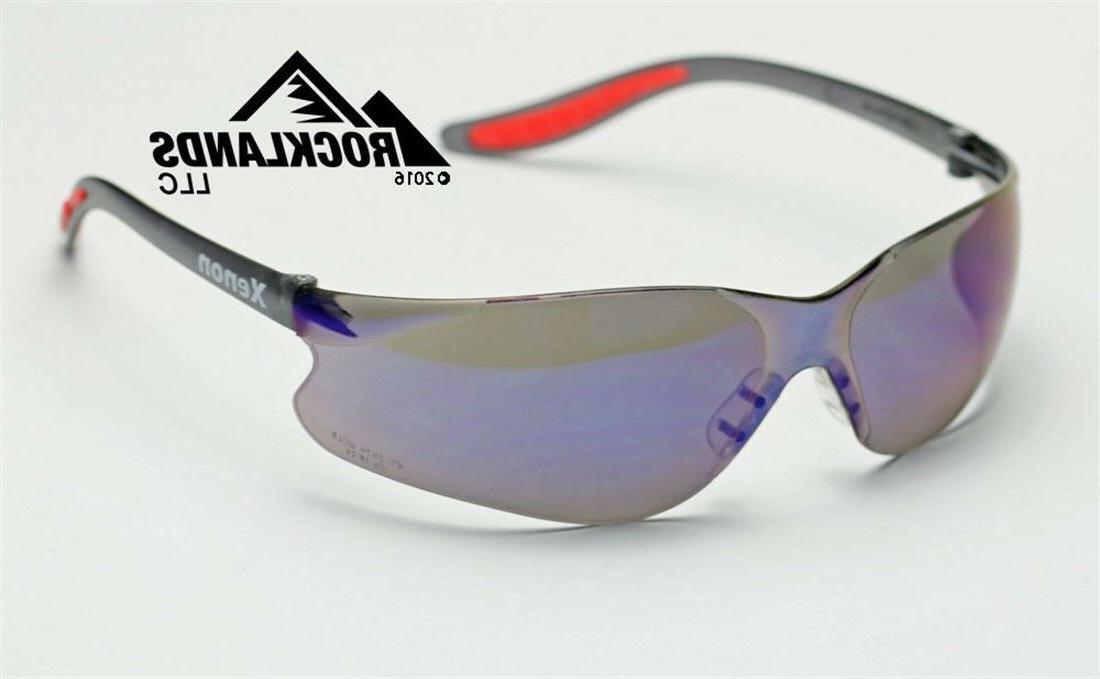 xenon safety motorcycle sun glasses blue mirror