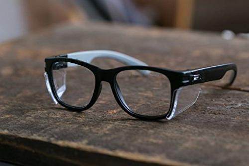 Magid Classic Black Glasses | Design Series with Side Shields - Anti Fog Coating, Lens